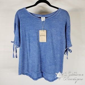 NWT! Exist Women's Blue Distressed T-Shirt - S